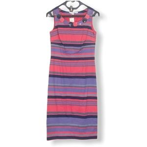 NEW Boden Striped Beaded Sheath Dress Size 4